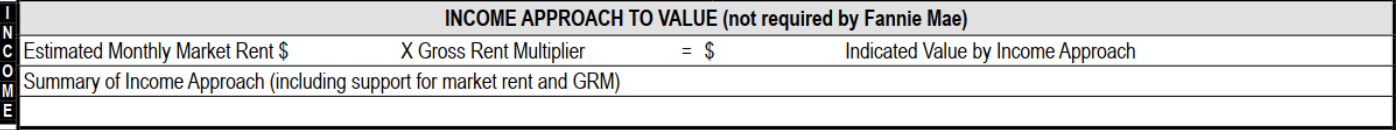 Income Approach to Value Data